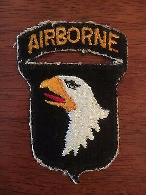 Lot of WW2 Era Airborne Shoulder Patches: 101st, 82nd Airborne WITH TABS + More!