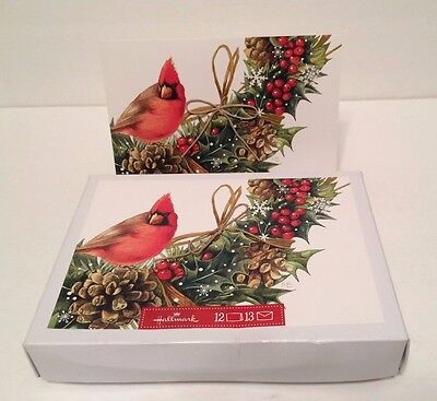 Marjolein Bastin Christmas Cards Nature's Sketchbook Cardinal Ivy NEW Box of 12
