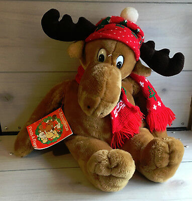 "A40 Vintage 1987 Commonwealth Moosetletoe w/ Book Plush! 24"" Stuffed Lovey"