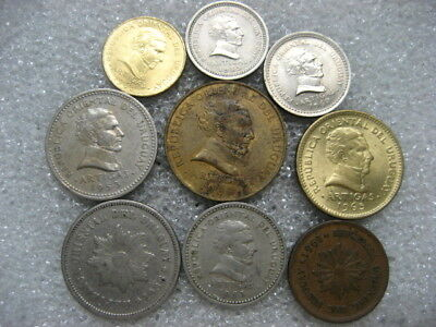 Coin Uruguay lot of 9 coins
