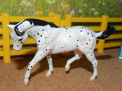 1998 Breyer Stablemate Jah Black Leopard Cantering Stock Horse (5,000 Made)