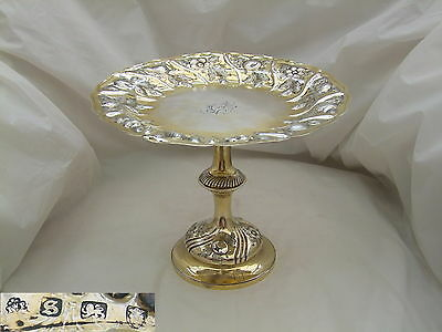 Rare George Iii Hm Sterling Silver Gilt Comport 1773
