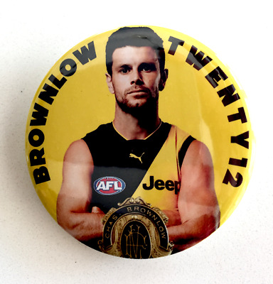 Trent Cotchin Brownlow Badge - New- Classic 57Mm Size