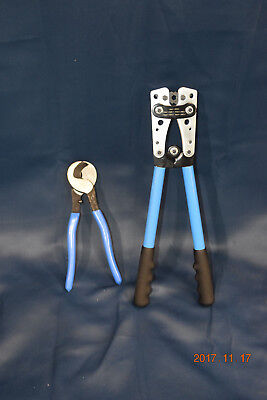 IWISS Cable Lug Crimping Tools Pliers for Crimping Wire Cable and Cable Cutters