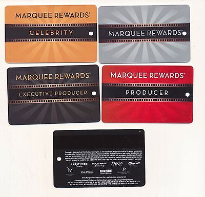 MARQUEE REWARDS----8 locations--BLANK -same back--slot cards
