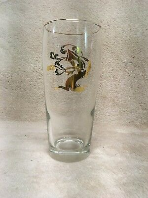 """Tree House Brewing Willie 6.5"""" Gold Logo Pint Glass With Gold Rim - Very Rare"""
