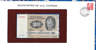 Banknotes of All Nations Denmark 20 Kroner P49a.3 1972 (1979) UNC A2791H
