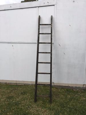 Vintage Rustic Industrial Wooden Shabby Chic Timber Ladder Decor Display Tall