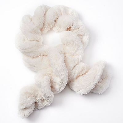 "SO Girls One-Size 40"" Oblong Ivory Soft Faux-Fur Twist Scarf New $22"