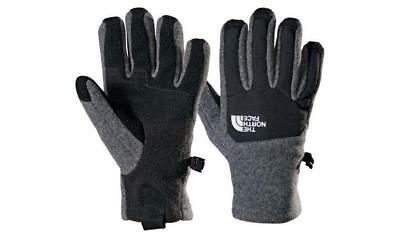 NEW The North Face Youth KIDS Denali Etip Gloves Unisex Charcoal Grey Heather M