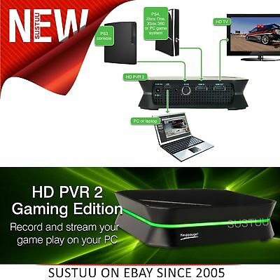Hauppauge HD PVR 2 Gaming Edition│Record-Edit-Upload-Stream Xbox 1-360/PS3-4/PC