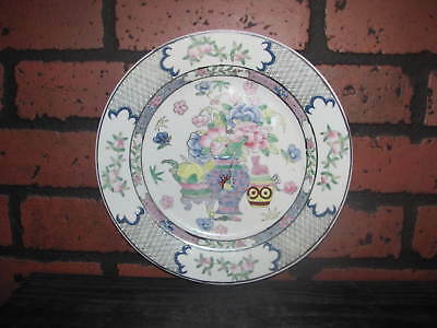 Vintage Chinese Famille Rose Plate with Precious Objects Red Qianlong Mark