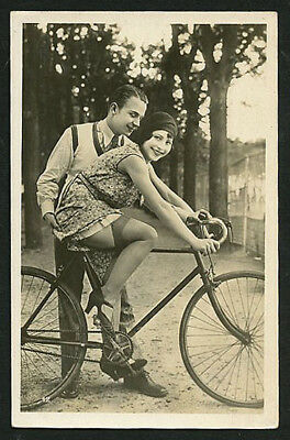 French YOUTHFUL Risque FLAPPER Ostra Garter Belt BIKE 1920s #3 ~ PARIS Latest
