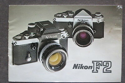 Nikon F2 sales brochure - original & genuine