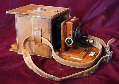 Trotter satchel-style detective camera, ca 1896. Very Rare.