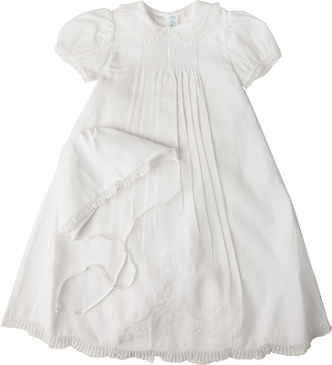 Feltman Brothers Girls Christening Gown White Batiste Lace NWT 6/9m & 9/12m