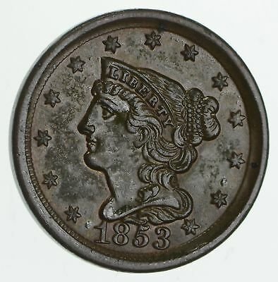 1853 Braided Hair Half Cent - Circulated *4188