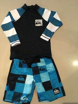 Quicksilver Board Shorts And Rashie - For 3 y.o