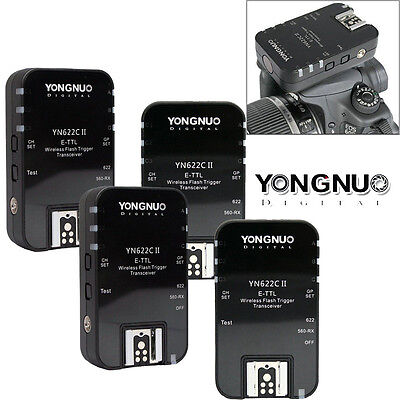 4pcs Yongnuo YN-622C II TTL Wireless Flash Trigger For Canon EOS 700D 60D 1D US