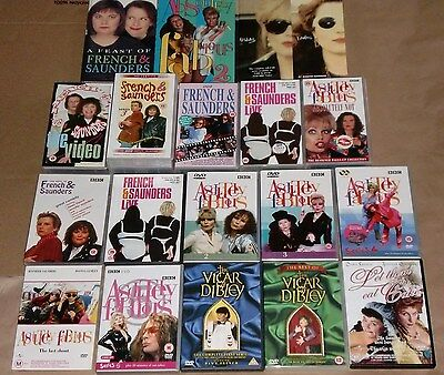Absolutely Fabulous French Saunders Lot Of 18 Items: Books,  Pal Tapes, Pal Dvds