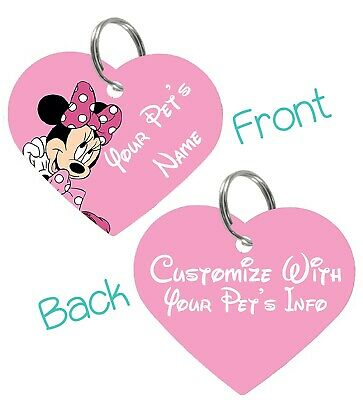Disney Minnie Mouse 2-Sided Pet Id Tag for Dogs & Cats Personalized For Your Pet