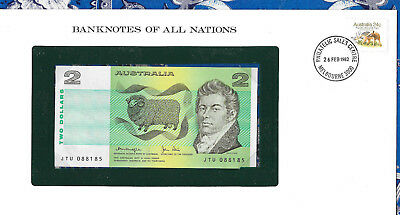 *Banknotes of All Nations Australia 2 Dollars 1979 P43c AUNC Knight/Stone JTU