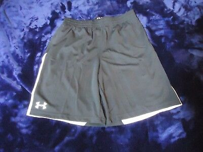 Under Armour Heat Gear Boys Youth Black/White Loose Shorts XL NWT
