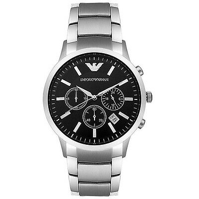 AR2434 Emporio Armani Men s EA Stainless Steel Chronograph Watch - NEW from USA
