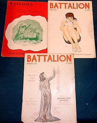 "Vintage TEXAS A&M ""Battalion"" Lot Of 3 From 1942"