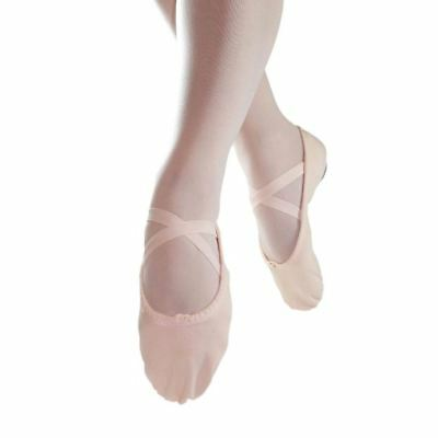 Ballet slipper canvas with leather full sole Pink dance sz37 BNWOT (53)