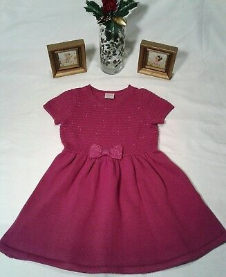 Toddler Girl's Gymboree Magenta A-Line Knit Dress w/Bow Short Sleeve Size 2T
