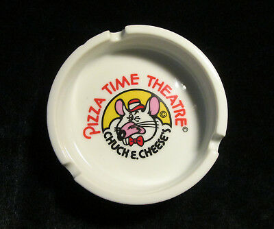 """Vintage Porcelain Ashtray from Chuck E. Cheese's """"Pizza Time Theatre"""""""