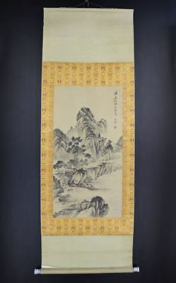 CHINESE HANGING SCROLL ART Painting Sansui Landscape  #E8558