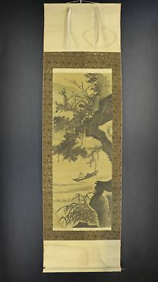 JAPANESE HANGING SCROLL ART Painting Tani Buncho Asian antique  #E8559