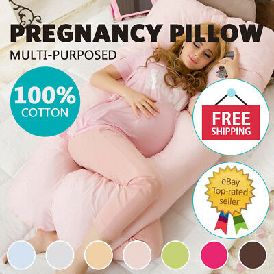 Bolster Pregnancy Maternity Bed Sleeping Pillow U Shape Comfortable Body Support