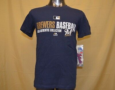 Majestic MLB Youth Milwaukee Brewers Baseball Shirt NWT $22 S, M, L, XL