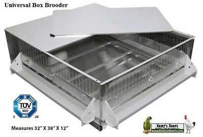 Brand New GQF 0534 Heated Poultry Box Brooder for Baby Chicks Gamebirds