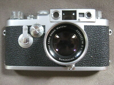 Leica IIIg Camera (860159) With Smmicron 50mm f2 Collapsible Lens (1365622)
