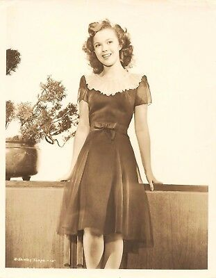 Movies Star Actress Shirley Temple Original Photo Picture Fifteen Years Old