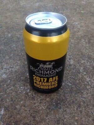 Richmond draught Carlton Draught 2017 AFL Premiers Beer Limited Edition Unopened