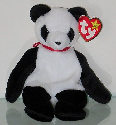Ty 1997 Fortune Panda Beanie Original Baby Collection Plush Toy