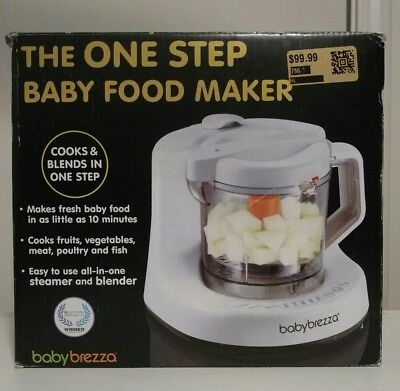 NEW - BABY BREZZA The One Step Baby Food Maker - Cooks & Blends - BPA Free -