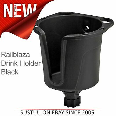 Railblaza Drink Holder│Store Mugs Bottles Lures Plier│For Kayak Canoe Boat│Black