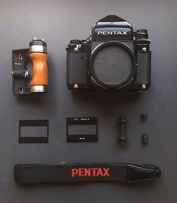 [Mint] Pentax 67 TTL M-up Late model /Grip / 35mm Trans Kit/Strap from Japan