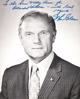 JOHN H. GLENN, JR. First U.S. Astronaut to orbit the Earth - Signed Photograph