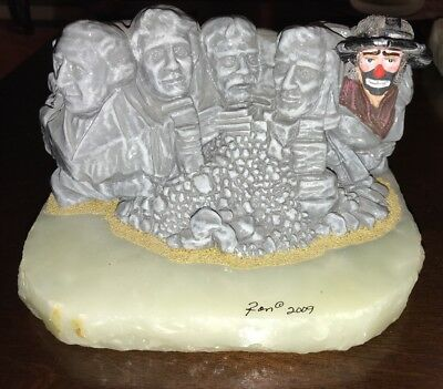 Emmett Kelly Jr Mt Rushmore 18/100 Ron Lee Real Signature Extremely Rare