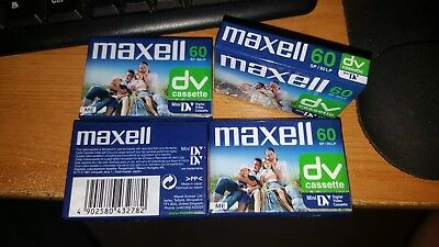 Maxell 60 SP Mini DV Cassettes X 4 Bundle New And Sealed