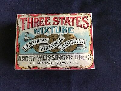 """ Three States ""  Tobacco Tin"