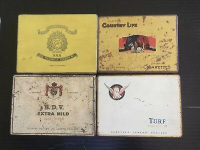 Job lot of 4  Tobacco Tins