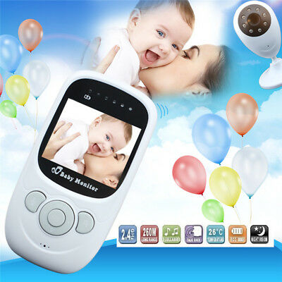 2.4G Wireless Digital 2.4'' LCD Baby Monitor Camera Audio Video Night Vision AU